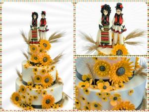 Tort de mireasa tematica traditionala - Piatra Neamt